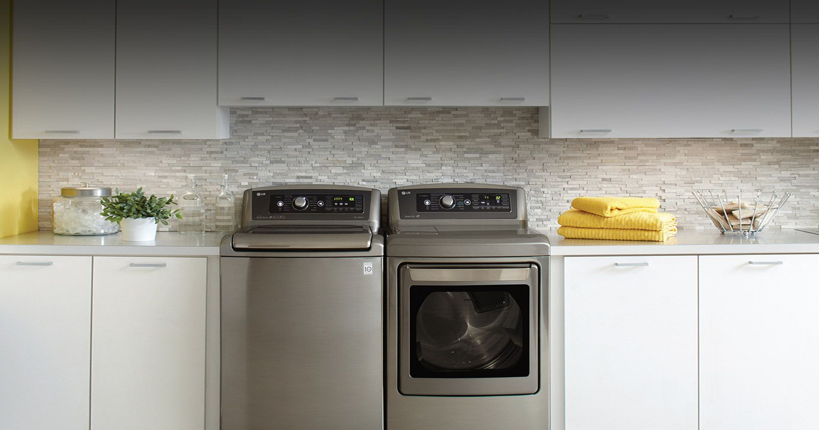 Picture showing a laundry room and a