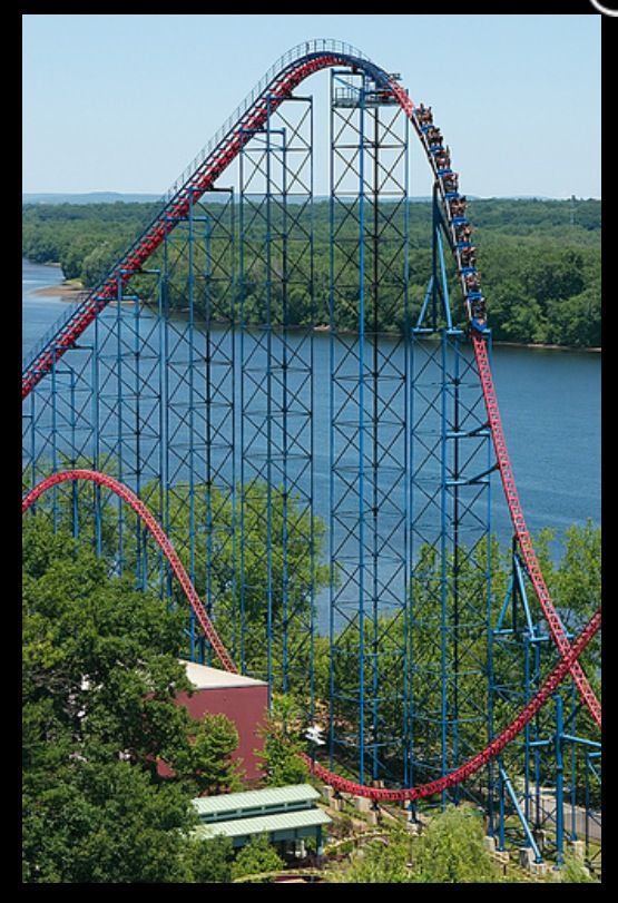 Superman Ride Of Steel Six Flags New England Roller Coaster
