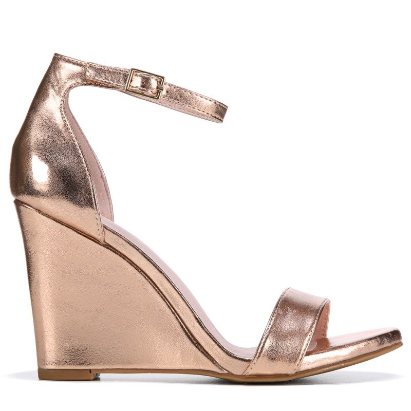 c73a8aa8dcf1 Madden Girl Women s Willow Wedge Dress Sandals (Rose Gold) in 2019 ...