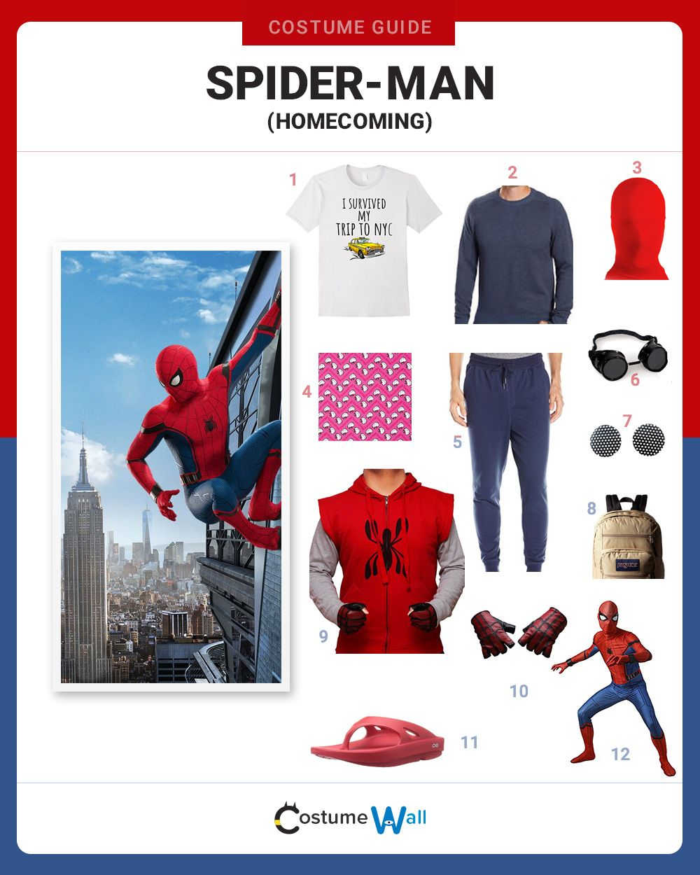 Dress Like Spider-Man (Homecoming)   Homemade costumes, Tom holland on homemade ghost shirts, homemade ironman shirts, homemade crayola shirts, homemade halloween shirts, homemade soccer shirts, homemade pacman shirts, homemade jurassic park shirts, homemade peter pan shirts, homemade wwe shirts, homemade cat shirts, homemade birthday shirts, homemade hannah montana shirts, homemade sports shirts, homemade football shirts, homemade pi shirts, homemade thomas shirts, homemade tinkerbell shirts, homemade superhero shirts, homemade dinosaur shirts, homemade superman costume for a girl,