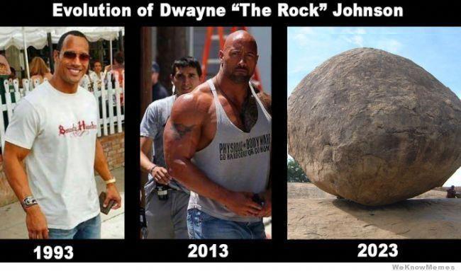 Evolution of Dwayne The Rock Johnson | Dwayne the rock ...