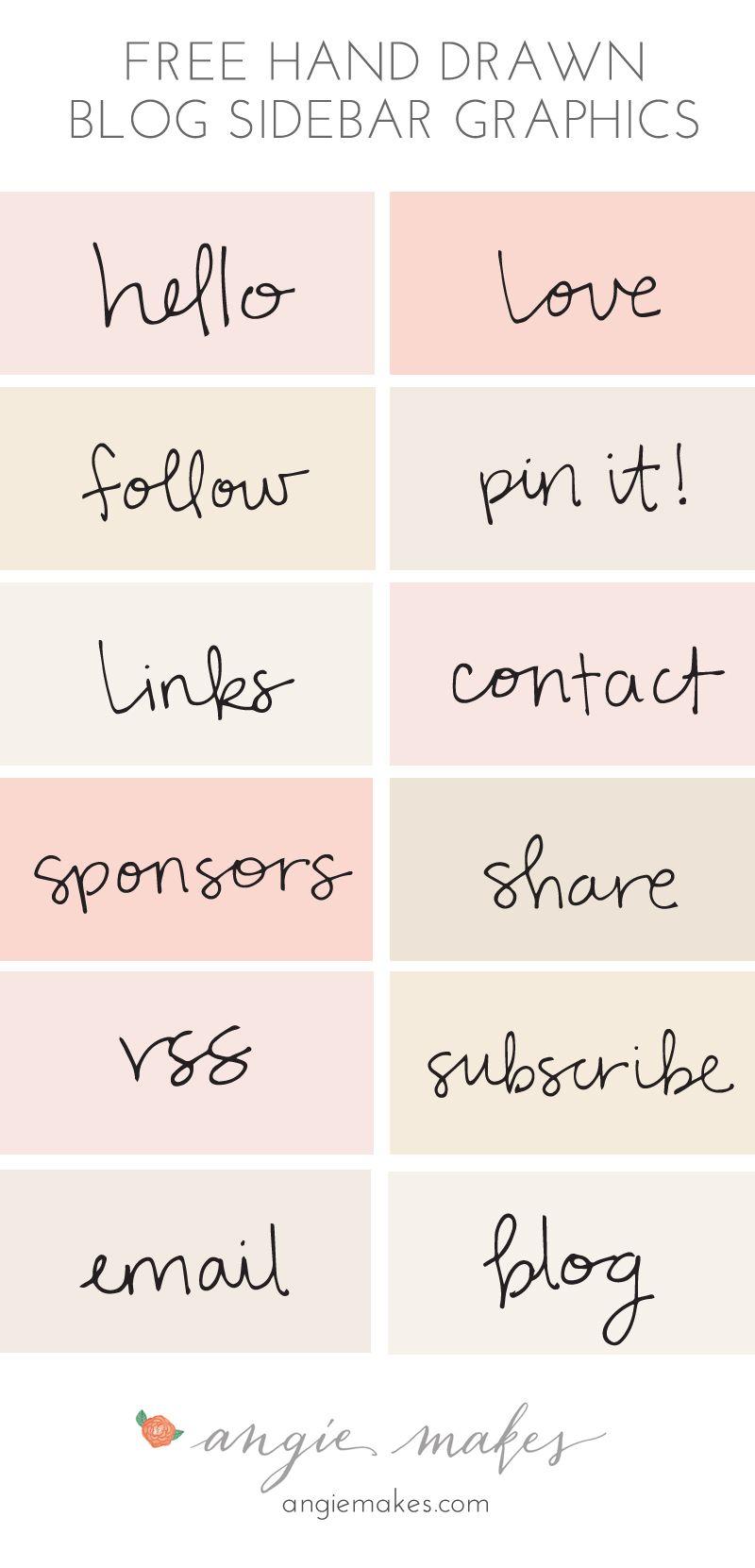 Free Blog Sidebar Graphics | Free blog, Hand drawn and Graphics