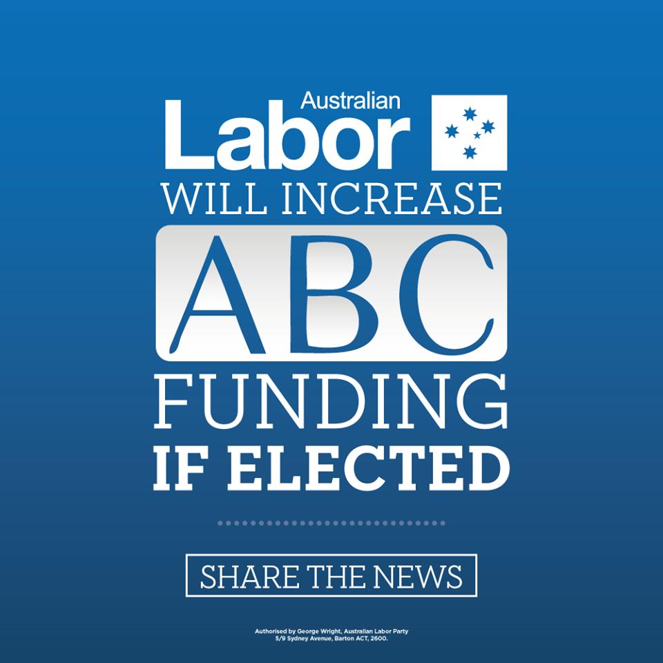 Australian Labor Party Today Bill Shorten MP announced