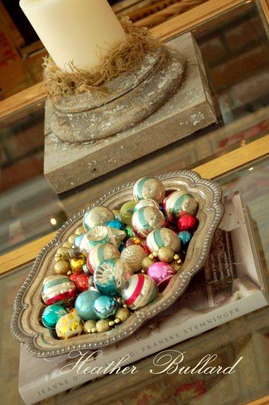 What To Put In A Bowl For Decoration Love This Ornament Filled Tray  I Love Christmas  Pinterest