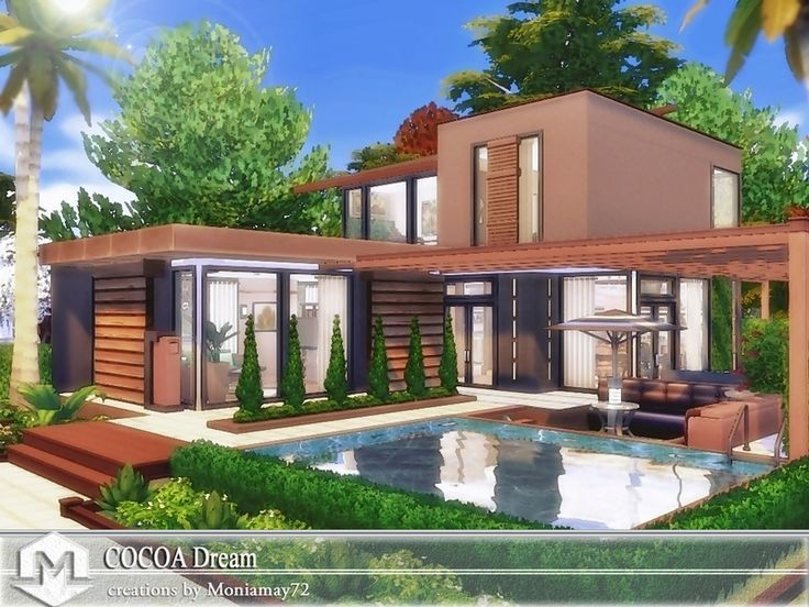 This is a small modern family house with 2 story living space. The entry walk steps across the refle… #smalllivingspaces