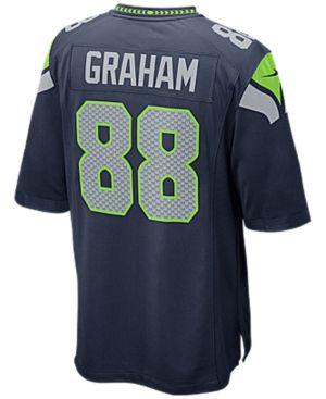Nike Men s Jimmy Graham Seattle Seahawks Game Jersey - Blue S ... d59548a50