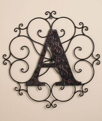 Monogram Wall Hanging Metal Monogram Wall Hangings  Decorate The Home  Pinterest  Monogram