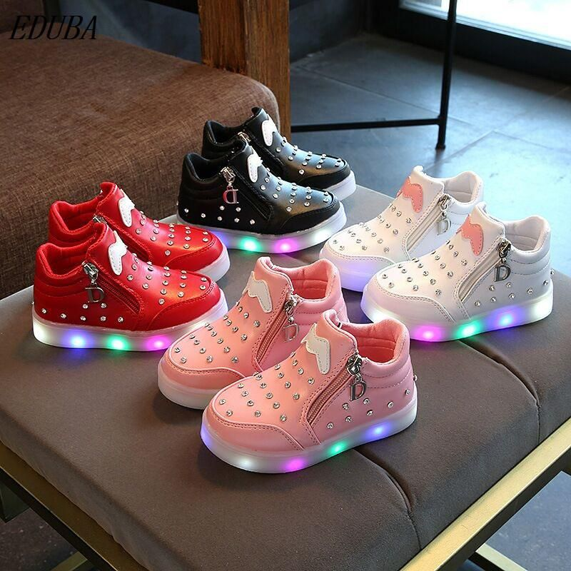 New Fashion Children Shoes With Light Led Kids Shoes Luminous Glowing Sneakers  Baby Toddler Boys Shoes girls princess boots. Yesterday s price  US  23.99  ... c97dab7ab748