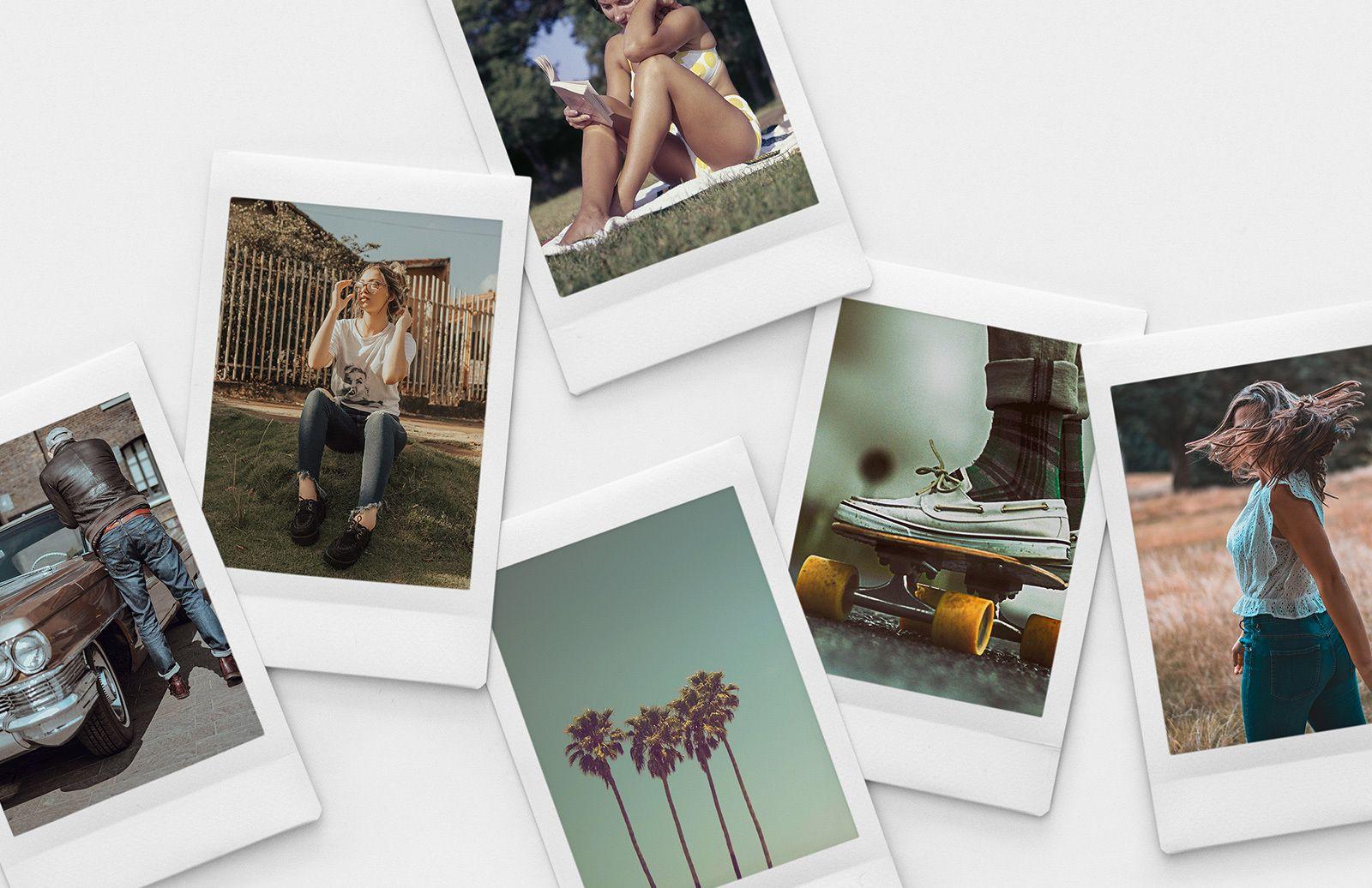 Slim Instant Photo Collage Mockups Instant Photos Photo Collage Photo