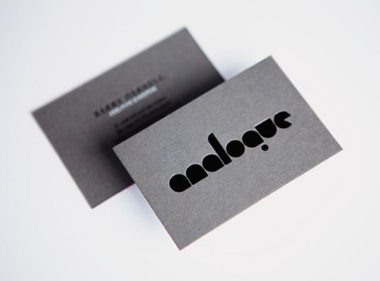 Analogue2 graphic business cards pinterest stationery design business card color combo deboss black with gunmetal gray colourmoves
