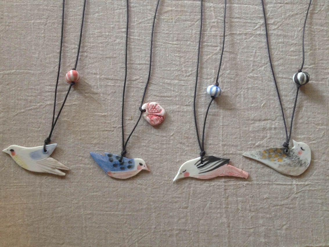 double-sided bird pendants