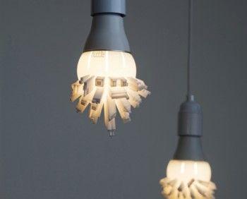 Printed Light Bulb Shaped Like A City Skyline Pics