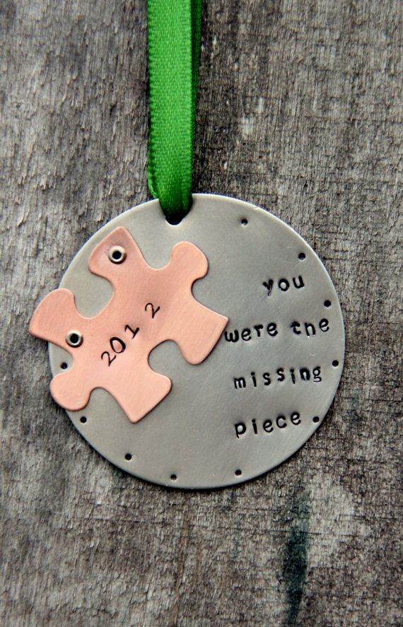 Puzzle Piece Ornament Husband, Holiday Decor, Holiday Ornaments Love  Ornaments, Ornament Wife Husband, Anniversary, Our First Christmas - Puzzle Piece Ornament - Adoption Ornament - Ornament - Christmas