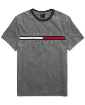 c9d4ab709107 Tommy Hilfiger Adaptive Men's Tino T-Shirt with Magnetic Closure at  Shoulders - Gray XXL