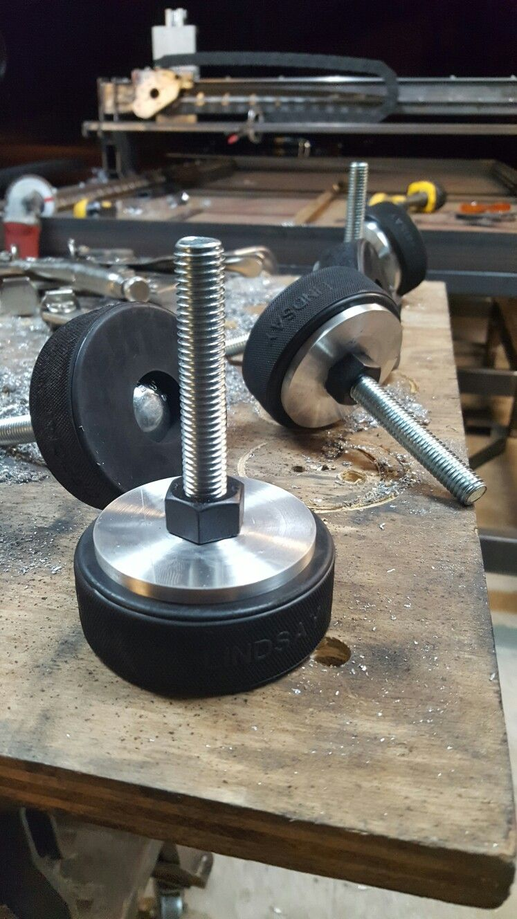 Cheap hockey puck leveling feet cnc plasma