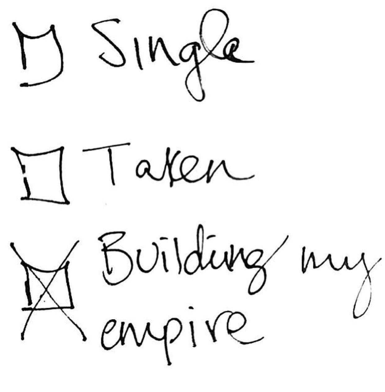 Single taken meaning