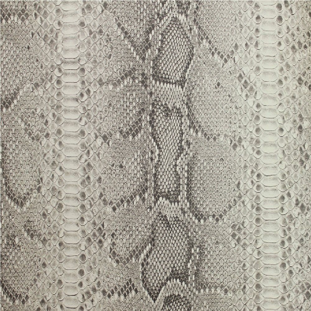 galerie natural faux python snake skin print wallpaper grey