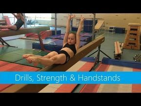 beam » drills strength  handstands  youtube