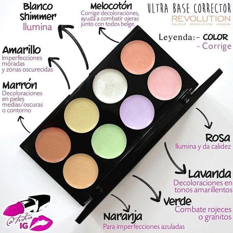 """VickyJauretcheMakeUp on Instagram: """"Datazo de Lunes!!! #Tips Con qué color de corrector taparte tus ojeras, manchas, rosacea, granitos?!! #TapaTodo #makeupclass"""""""