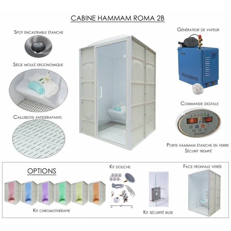 Cabine Hammam Et Sieges Moules En Acrylique Avec Generateur De Vapeur Generateur De Vapeur Hammam Cabine
