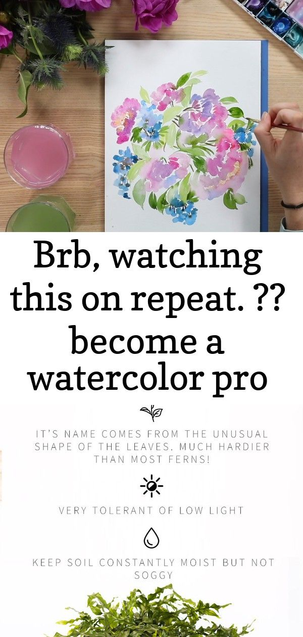Brb watching this on repeat  become a watercolor pro with our brand new intermediate watercolo 1 BRB watching this on repeat  Become a watercolor pro with our brand new I...