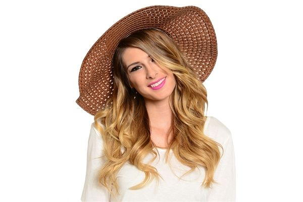 FASHION BEACH FLOPPY STRAW HAT SUMMER 79% OFF