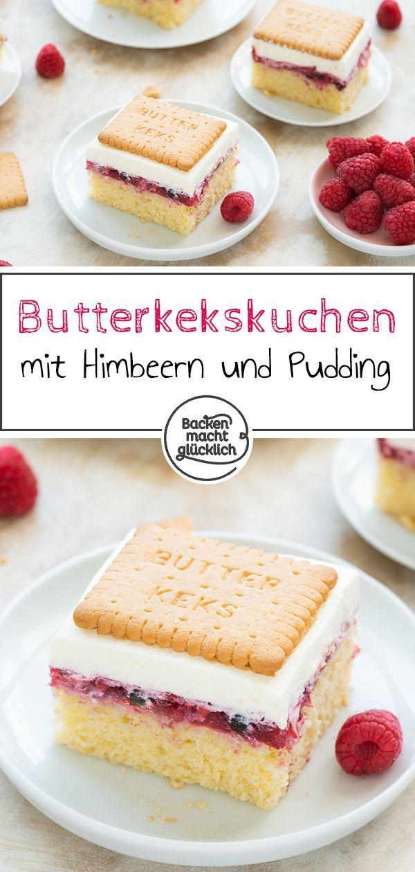 Photo of Butterkeks-Kuchen mit Beeren | Backen macht glücklich