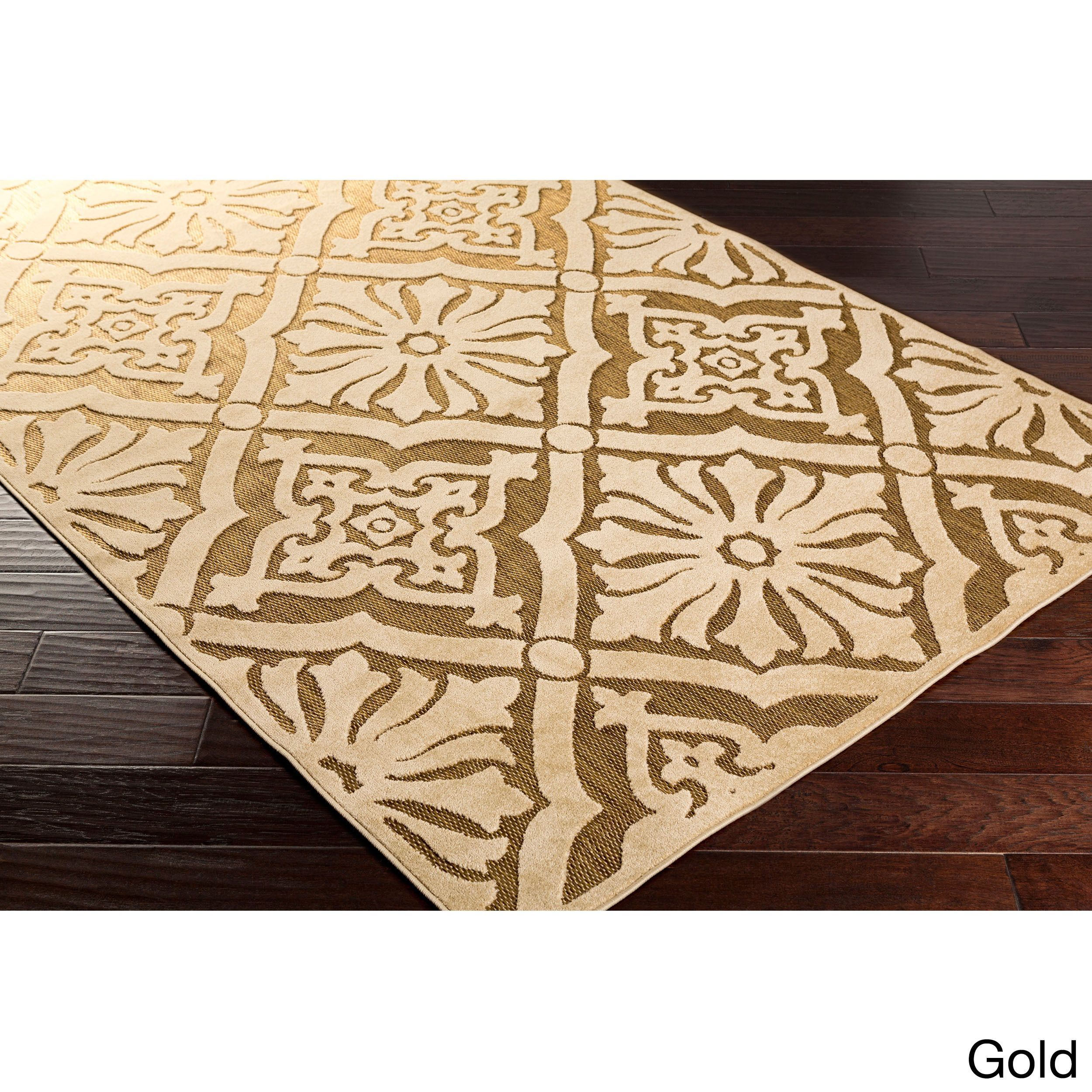 Livia Indoor Outdoor Olefin Rug 8 8 X 12 Gold 8 8 X 12 Gold