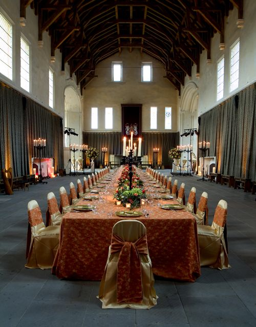 Superb Long Table Set Up At Stirling Castle For Intimate Dinner For 40 Guests