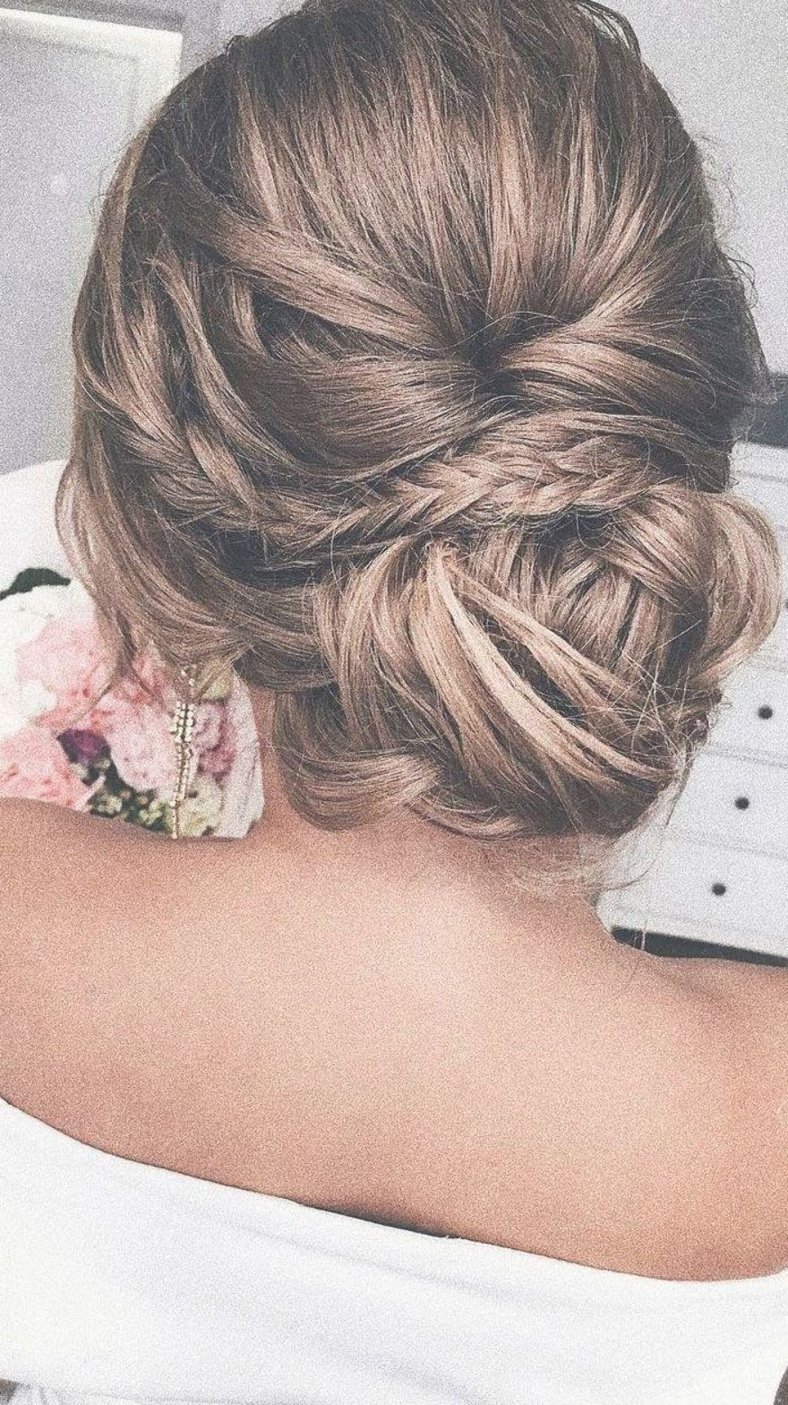 Unique Updo Hairstyle Simple Updo Low Bun Wedding Hair Fishtail Braid Updo Messy Updo Bridal Hairstyle Updo H Low Bun Wedding Hair Hair Styles Chic Hairstyles