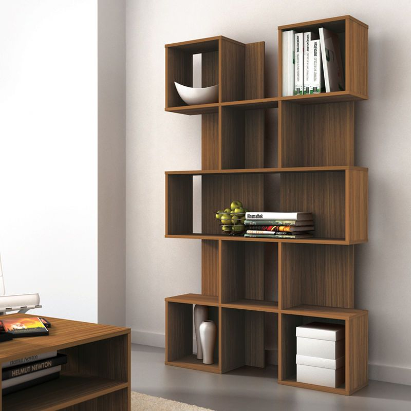 Dcor Design Contemporary Walnut Bookshelf Bookcase Design Cool