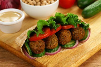 baked falafel... ooh I love falafel!