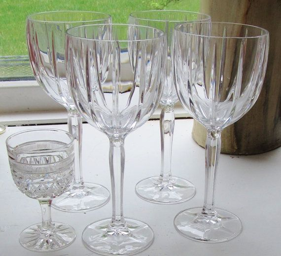 FOUR Waterford Balloon Wine Crystal by GlassLoversGallery on Etsy