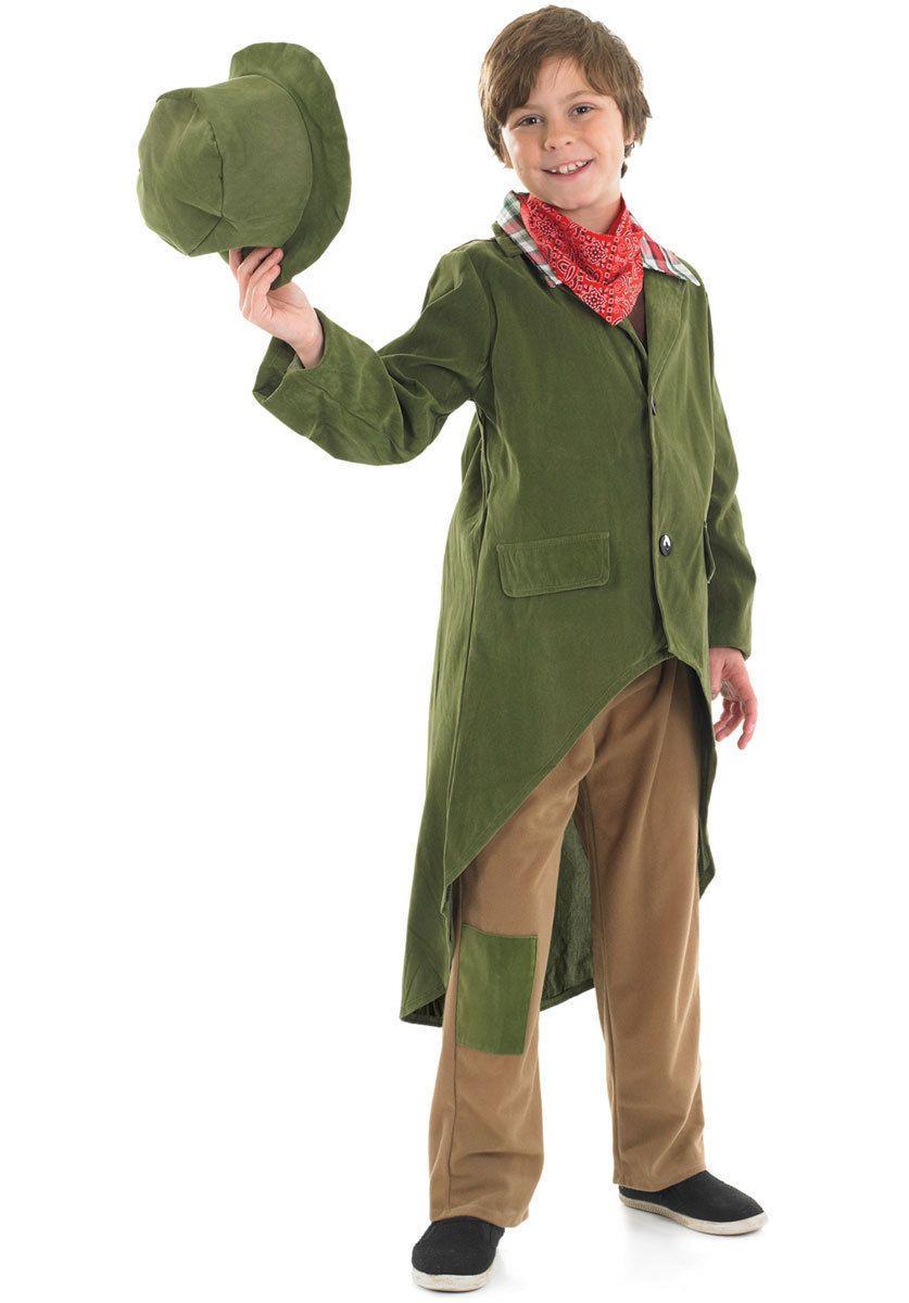 BOYS DICKENSIAN BOY ARTFUL DODGER POOR VICTORIAN FANCY DRESS COSTUME