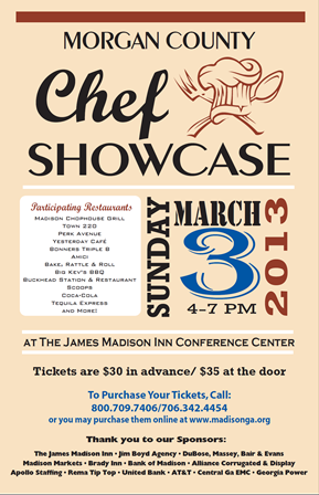This Sunday from 4-7 at The James Madison Inn Conference Center!  To purchase tickets, visit www.madisonga.org