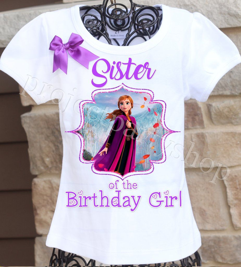 Frozen 2 Sister Shirt (2020) 2nd birthday shirt, 2nd