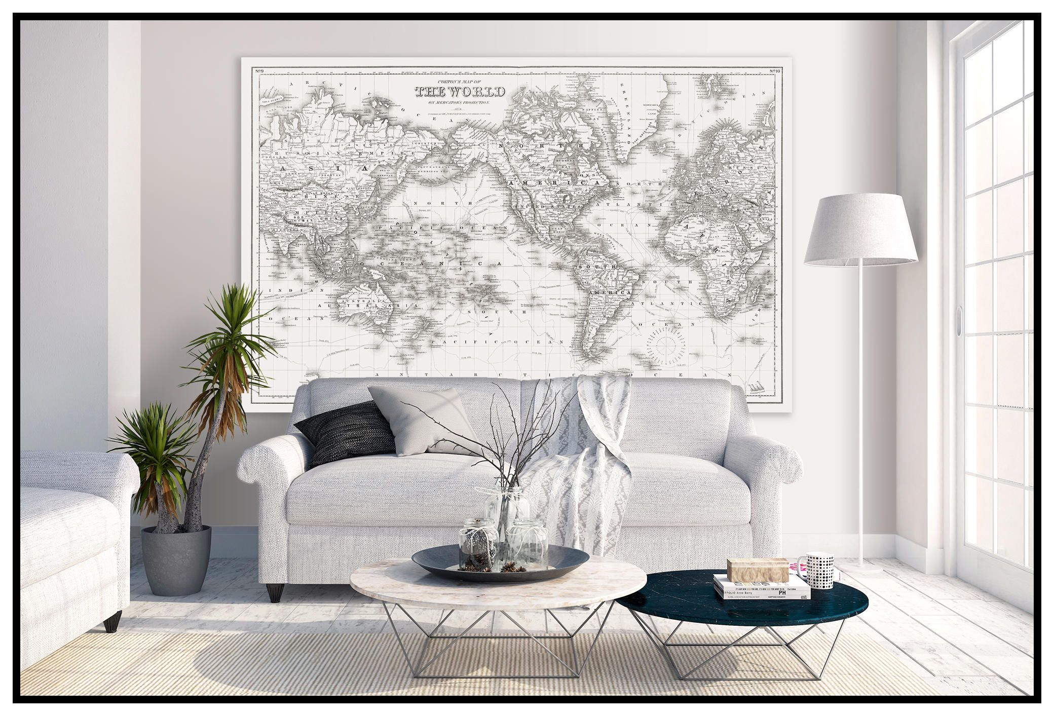 Large vintage world map world map in antique whites world map large vintage world map world map in antique whites world map grand canvas wall tapestry6xft x 10ft map gumiabroncs Images
