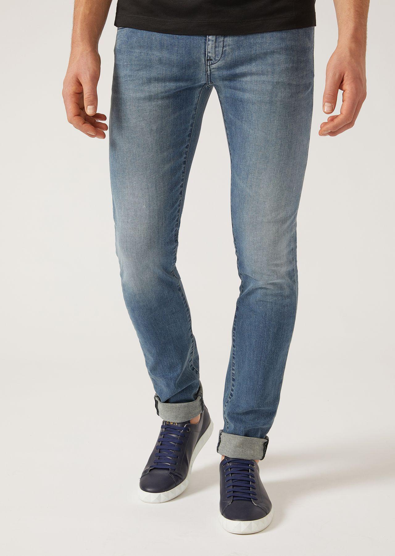 56fe7e64b8 J10 Extra-Slim-Fit Stretch Cotton Denim Jeans   Man   Emporio Armani ...
