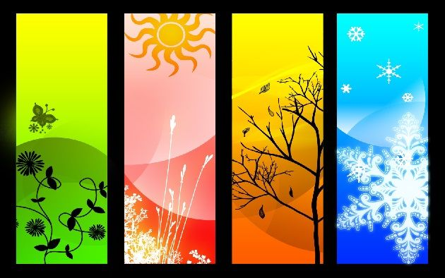 Mi Universar: Las estaciones del año | Arte de lienzo ...
