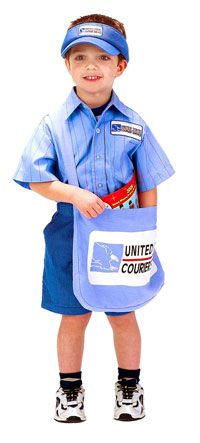 Child Mail Carrier Costume - Postal Worker Costumes  b43c55621625