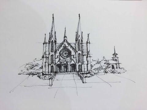 Architectural Sketching - Day 20 - YouTube