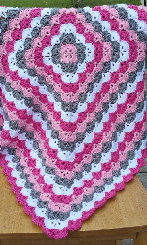 Beautiful Shells Baby Afghan, Baby Shower Gift, Baby Blanket, Baby ...