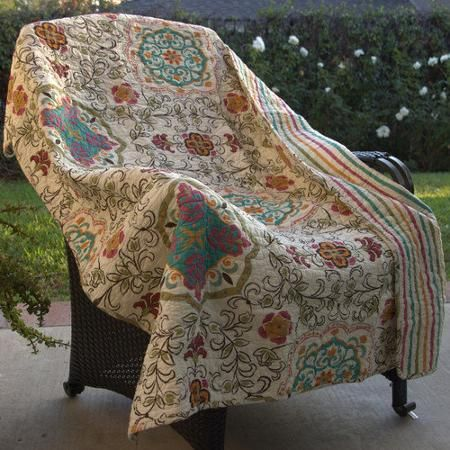 I must have this Walmart.com 29.99 Greenland Home Fashions Esprit Spice Cotton Throw