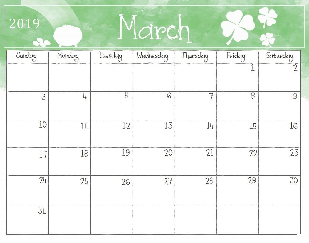 image about Printable March Calendar titled March 2019 Calendar Printable Free of charge 100+ March 2019