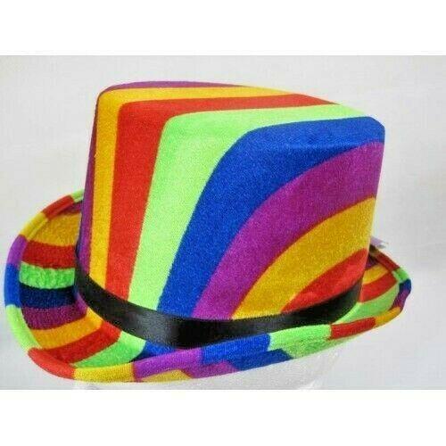 f543ba79cd90c Top Hat Rainbow colours 61cm mrH7781 adult size  ccc  Dance ...