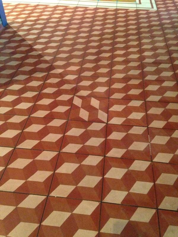 4.) The confused floor tile