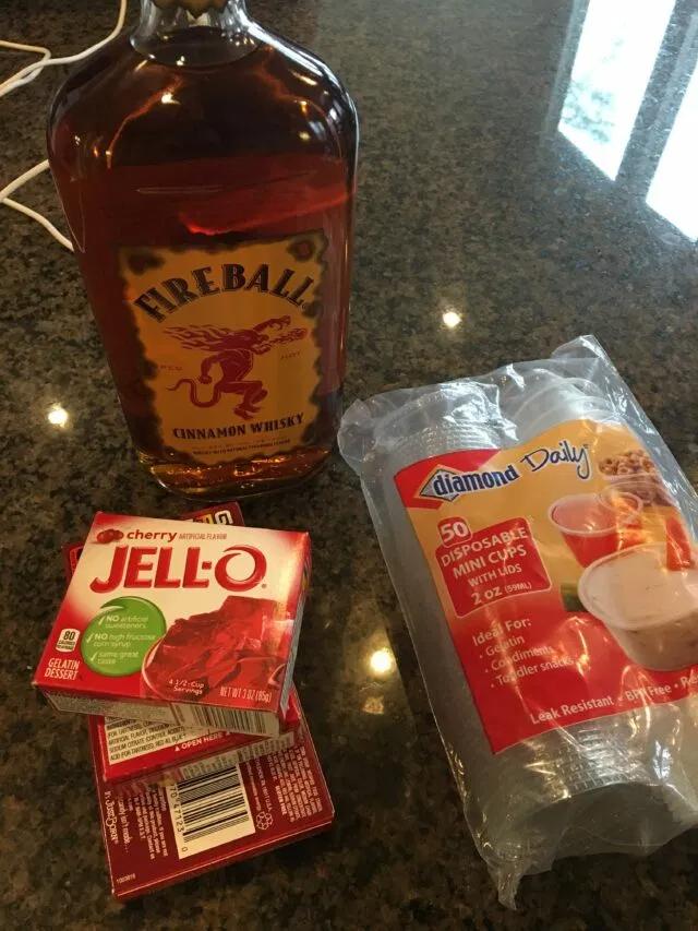 Fireball Jello Shots - The Cookin Chicks