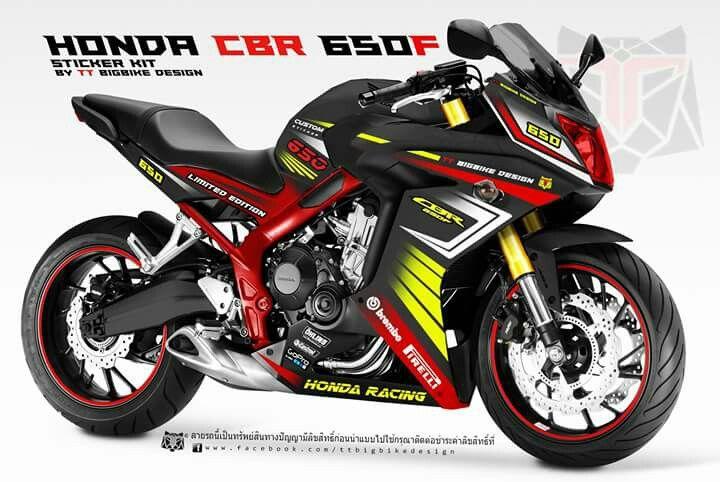Sticker Kit For Cbr650f By Tt Bigbike Design Ttbigbikedesign