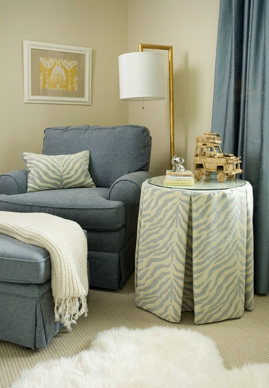 Love A Small Round Table With Pleated Skirt The Right Number Of Pleats Need For My Bedside
