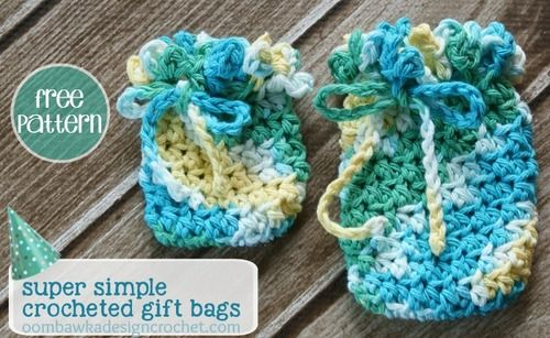 Cute And Simple Crochet Gift Bags Crochet Gifts Simple Crochet